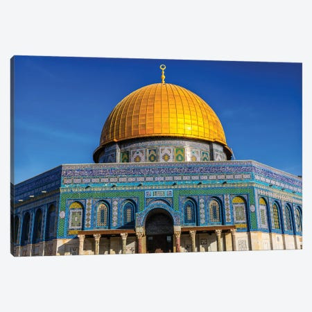 Dome of the Rock Arch, Temple Mount, Jerusalem, Israel II Canvas Print #WPE8} by William Perry Canvas Artwork
