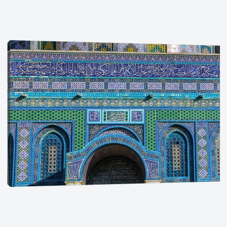 Islamic Decorations, Temple Mount, Jerusalem, Israel. Canvas Print #WPE9} by William Perry Canvas Artwork