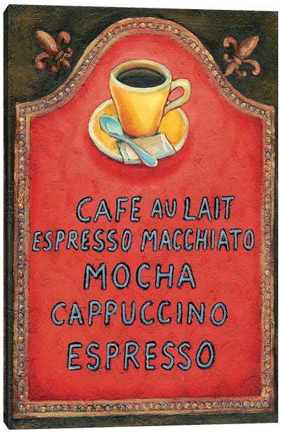 Café Canvas Art Print