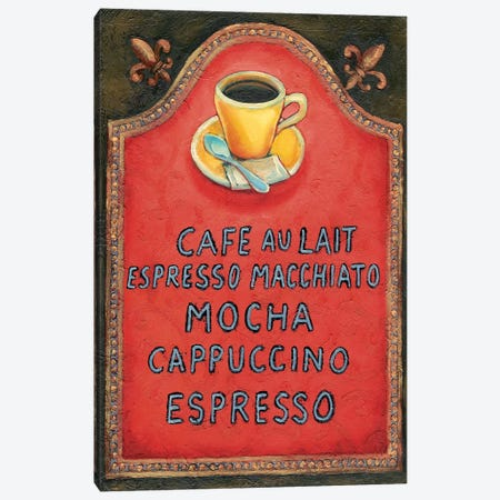 Café Canvas Print #WRA1} by Will Rafuse Canvas Art
