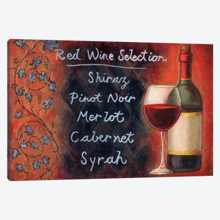 Red Wine Selection Canvas Print #WRA2} by Will Rafuse Canvas Artwork
