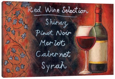 Red Wine Selection Canvas Art Print