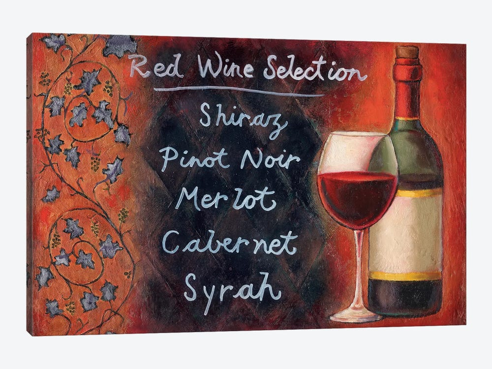 Red Wine Selection by Will Rafuse 1-piece Canvas Wall Art