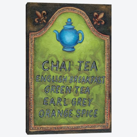 Tea Canvas Print #WRA3} by Will Rafuse Canvas Artwork