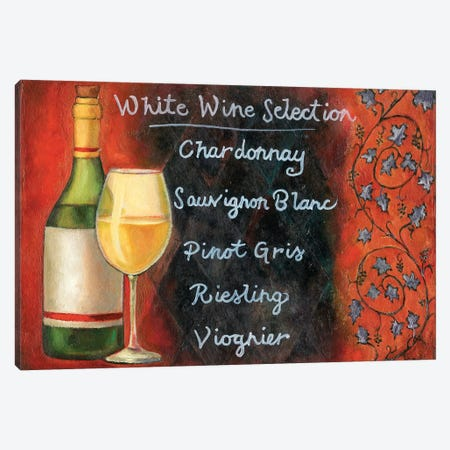 White Wine Selection Canvas Print #WRA4} by Will Rafuse Canvas Art Print