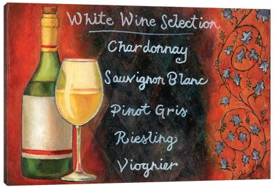 White Wine Selection Canvas Art Print