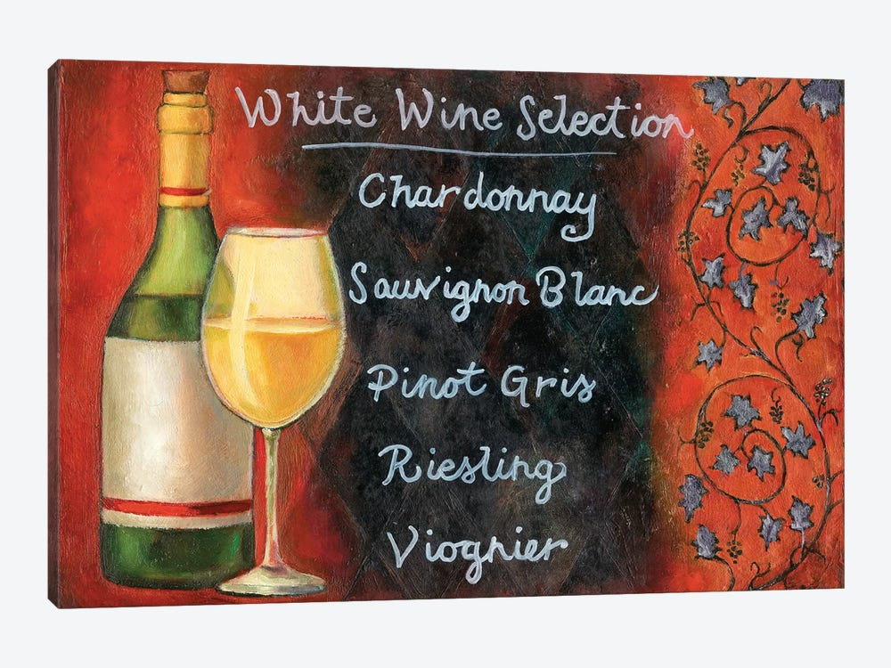 White Wine Selection by Will Rafuse 1-piece Canvas Art