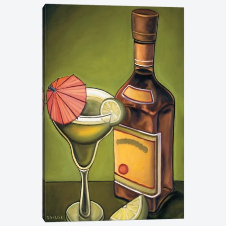 Lime Margarita 3-Piece Canvas #WRA6} by Will Rafuse Canvas Print