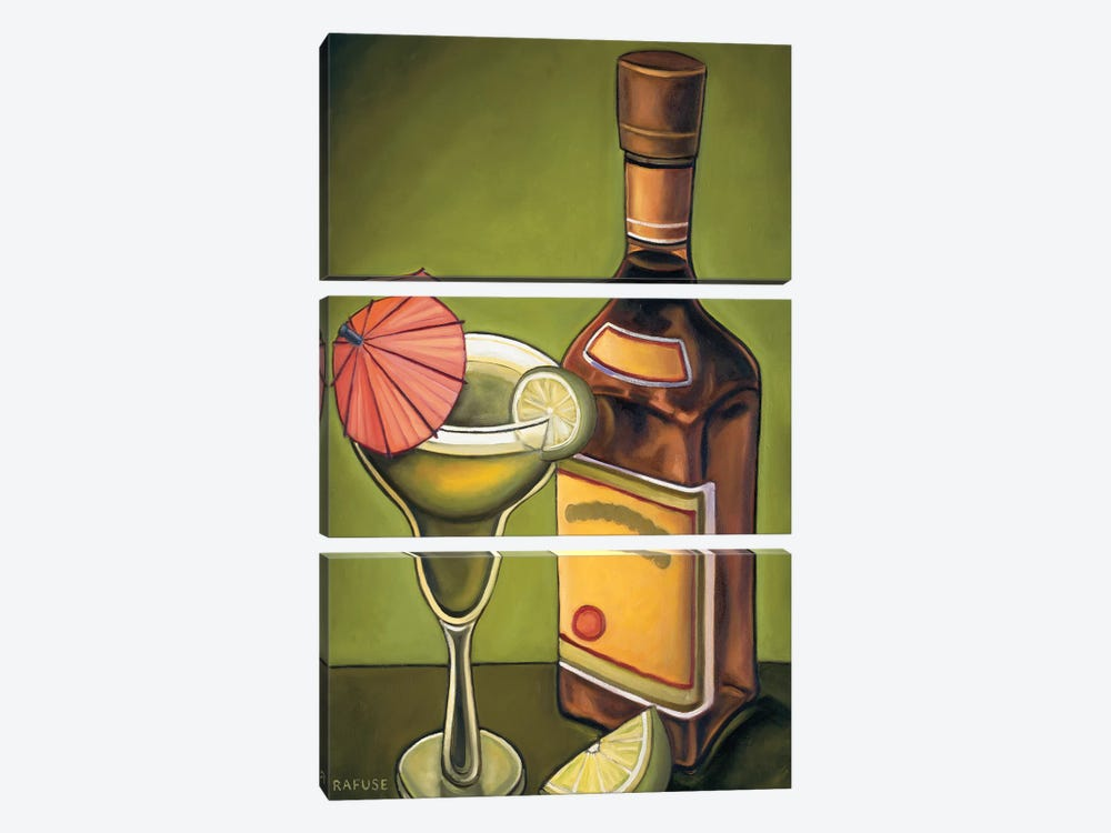 Lime Margarita by Will Rafuse 3-piece Canvas Art
