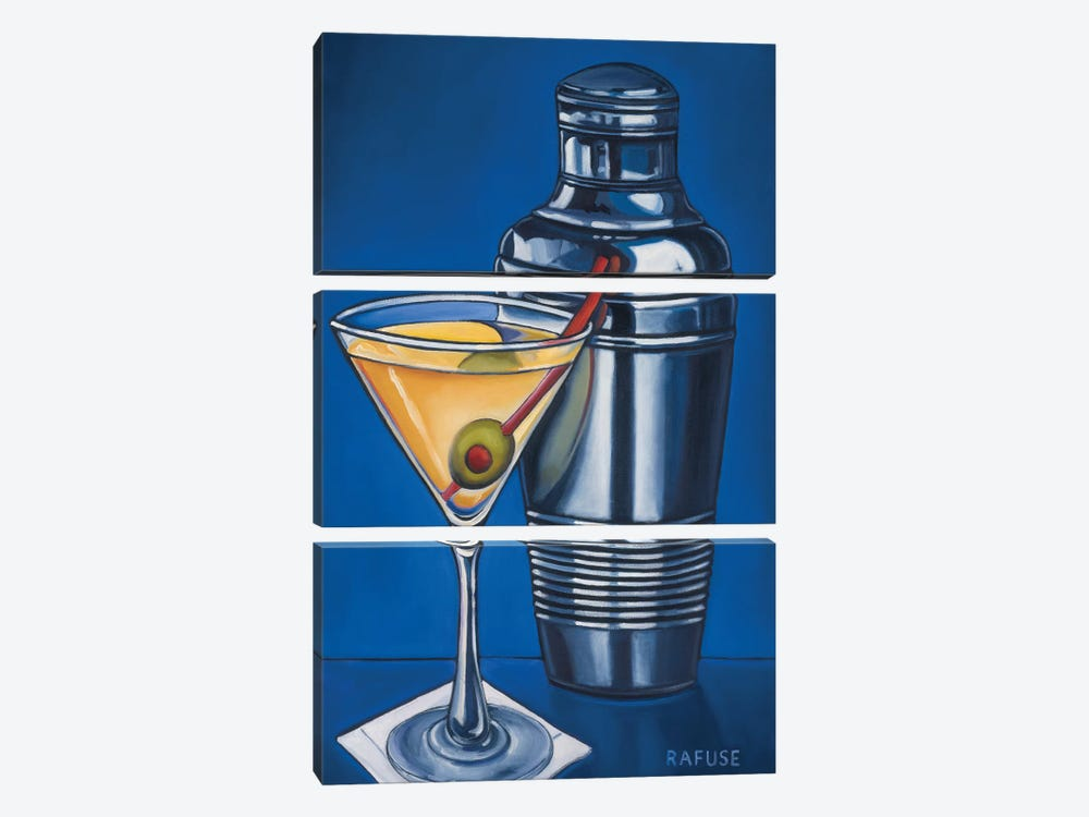 Martini by Will Rafuse 3-piece Canvas Art Print