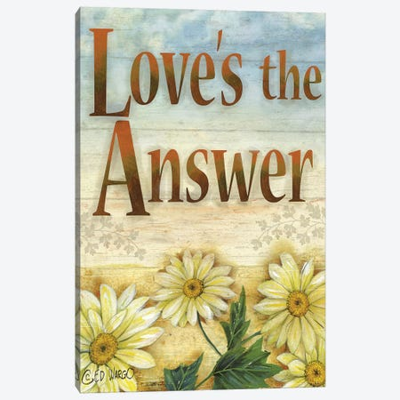 Love's the Answer Canvas Print #WRG11} by Ed Wargo Art Print