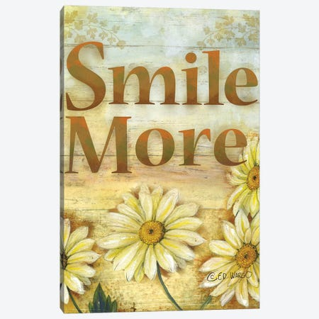 Smile More Canvas Print #WRG12} by Ed Wargo Art Print