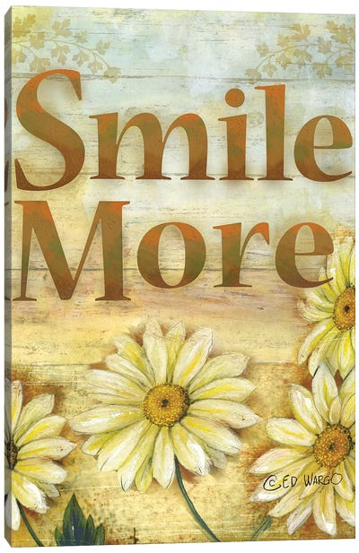 Smile More Canvas Art Print