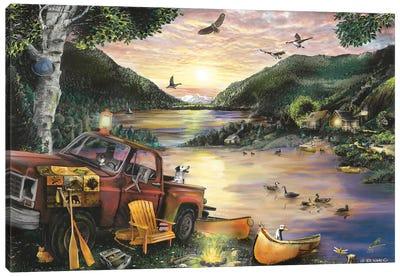 Lakefront Camping I Canvas Art Print