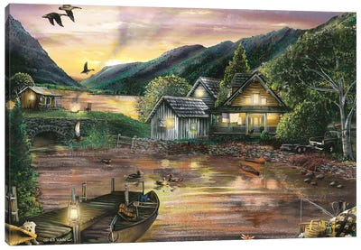 Lakefront Camping II Canvas Art Print