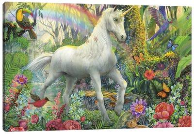 Rainbow Unicorn Canvas Art Print