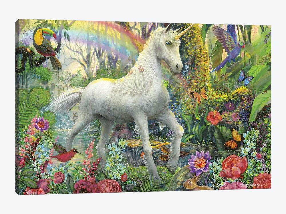 Rainbow Unicorn by Ed Wargo 1-piece Art Print