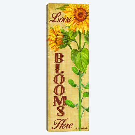 Love Blooms Here Canvas Print #WRG3} by Ed Wargo Canvas Wall Art