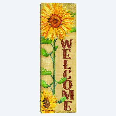 Welcome Sunflower Canvas Print #WRG7} by Ed Wargo Art Print