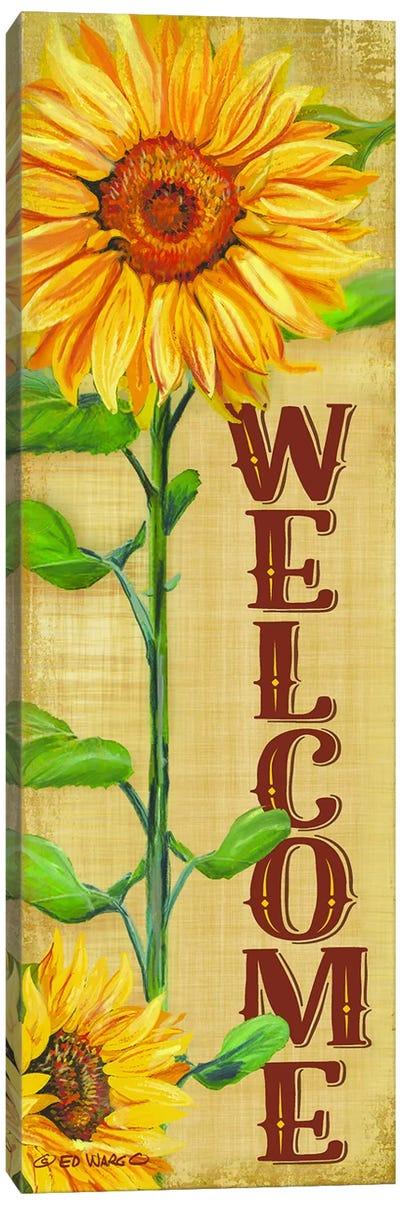 Welcome Sunflower Canvas Art Print
