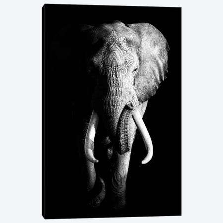 Dark Elephant III 3-Piece Canvas #WRI16} by Wouter Rikken Canvas Art