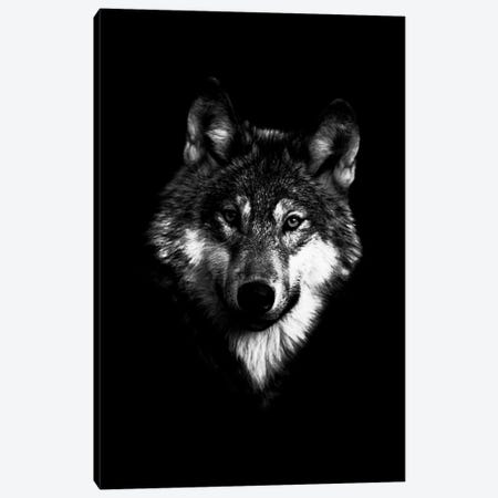 Dark Wolf I Canvas Print #WRI41} by Wouter Rikken Canvas Artwork