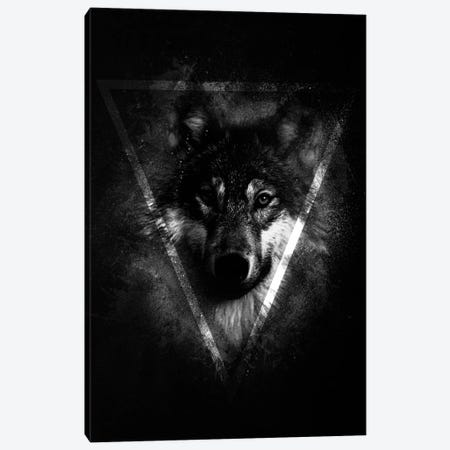 Dark Wolf II Canvas Print #WRI42} by Wouter Rikken Canvas Artwork