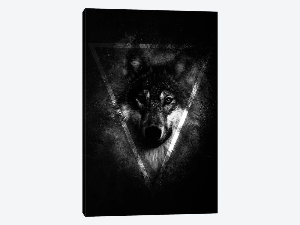 Dark Wolf II by Wouter Rikken 1-piece Canvas Artwork