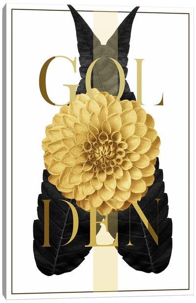 Golden Flower Canvas Art Print