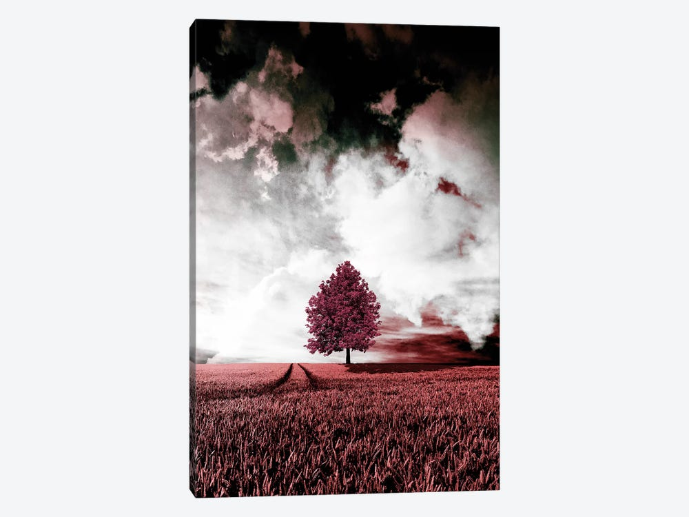 Red Autumn 1-piece Canvas Artwork