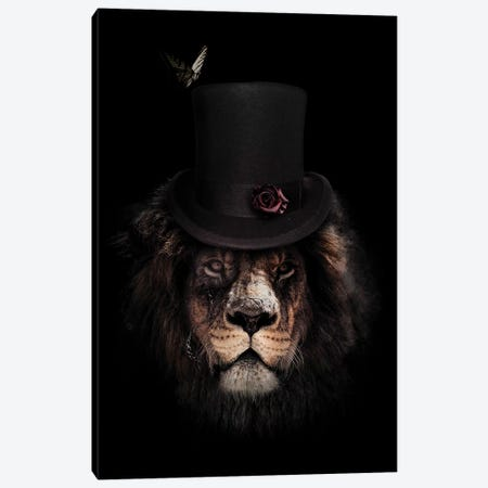 Classy Lion Canvas Print #WRI6} by Wouter Rikken Canvas Print