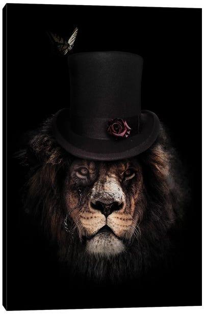Classy Lion Canvas Art Print