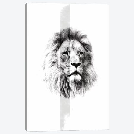 White Lion I Canvas Print #WRI77} by Wouter Rikken Canvas Artwork