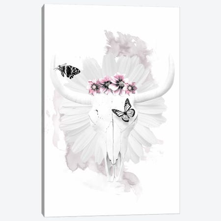 Cow Skull Canvas Print #WRI7} by Wouter Rikken Canvas Print