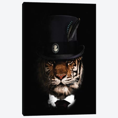 Classy Tiger Canvas Print #WRI82} by Wouter Rikken Canvas Artwork