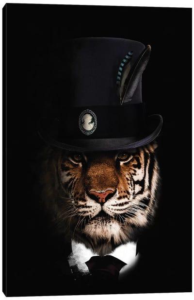 Classy Tiger Canvas Art Print