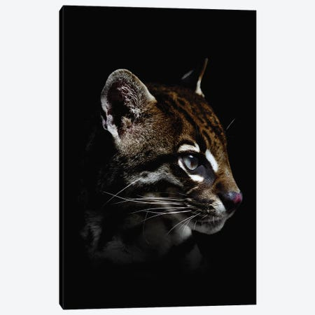 Dark Ocelot Canvas Print #WRI85} by Wouter Rikken Art Print