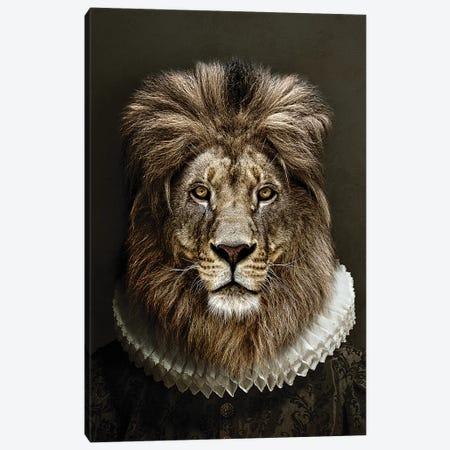 Classy Lion II 3-Piece Canvas #WRI91} by Wouter Rikken Art Print