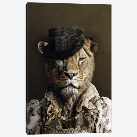Classy Lioness Canvas Print #WRI92} by Wouter Rikken Art Print