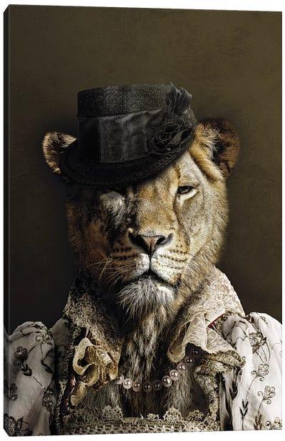 Classy Lioness Canvas Art Print