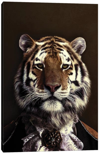 Classy Tiger II Canvas Art Print