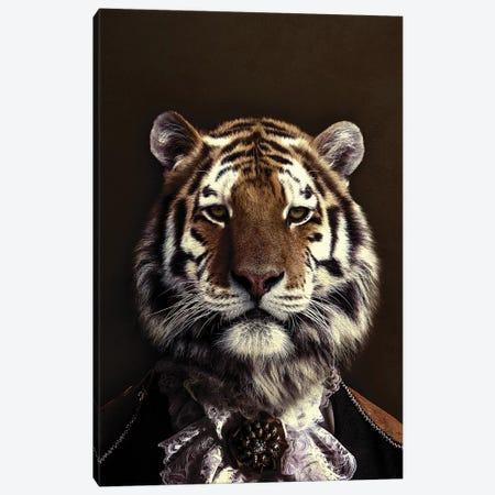 Classy Tiger II Canvas Print #WRI93} by Wouter Rikken Art Print
