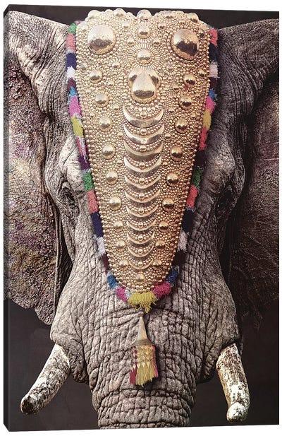 Decorated Elephant Canvas Art Print