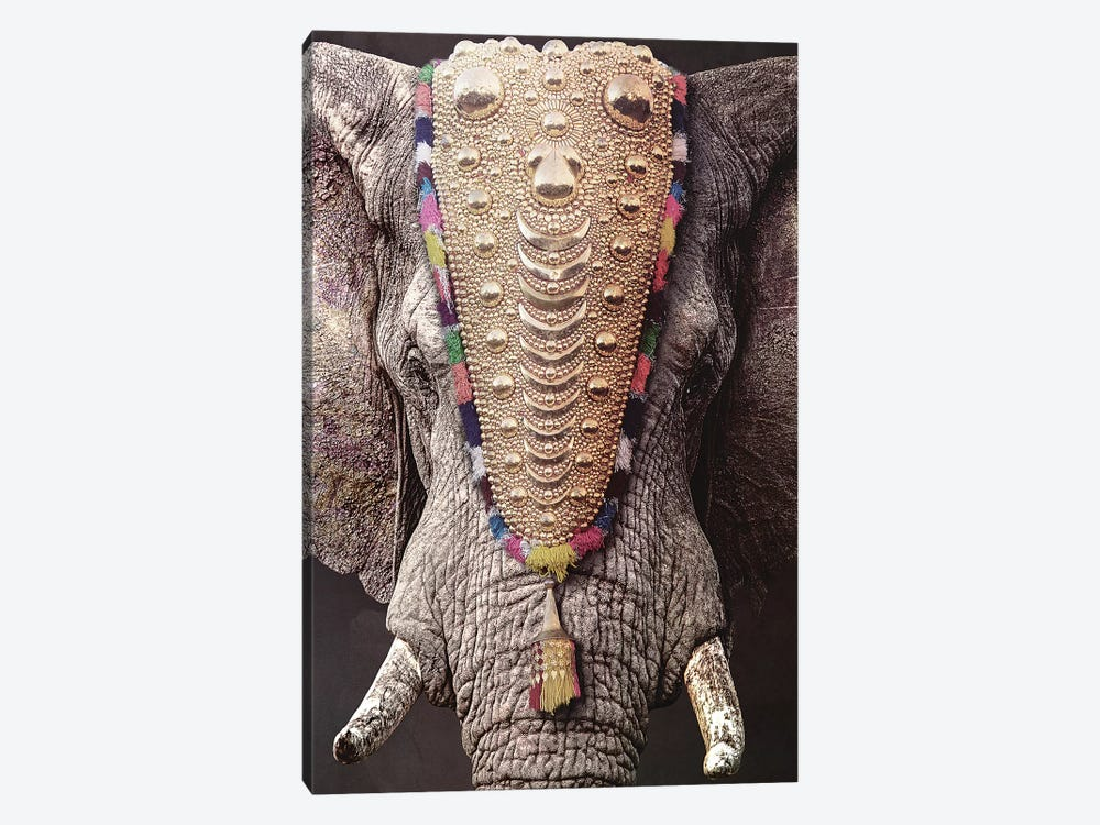 Decorated Elephant by Wouter Rikken 1-piece Art Print