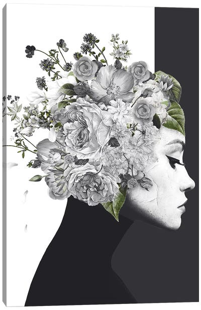 Flower Woman Canvas Art Print