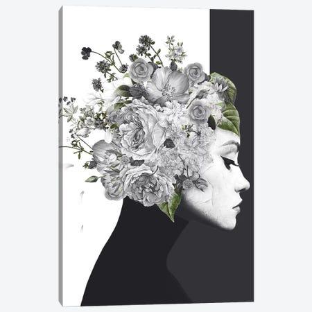 Flower Woman 3-Piece Canvas #WRI98} by Wouter Rikken Canvas Print