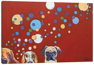 When Dogs Drink Canvas Art Print