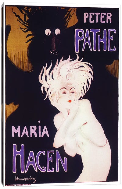 Peter Pathe/Maria Hagen Ballet Duo, 1918 Canvas Art Print