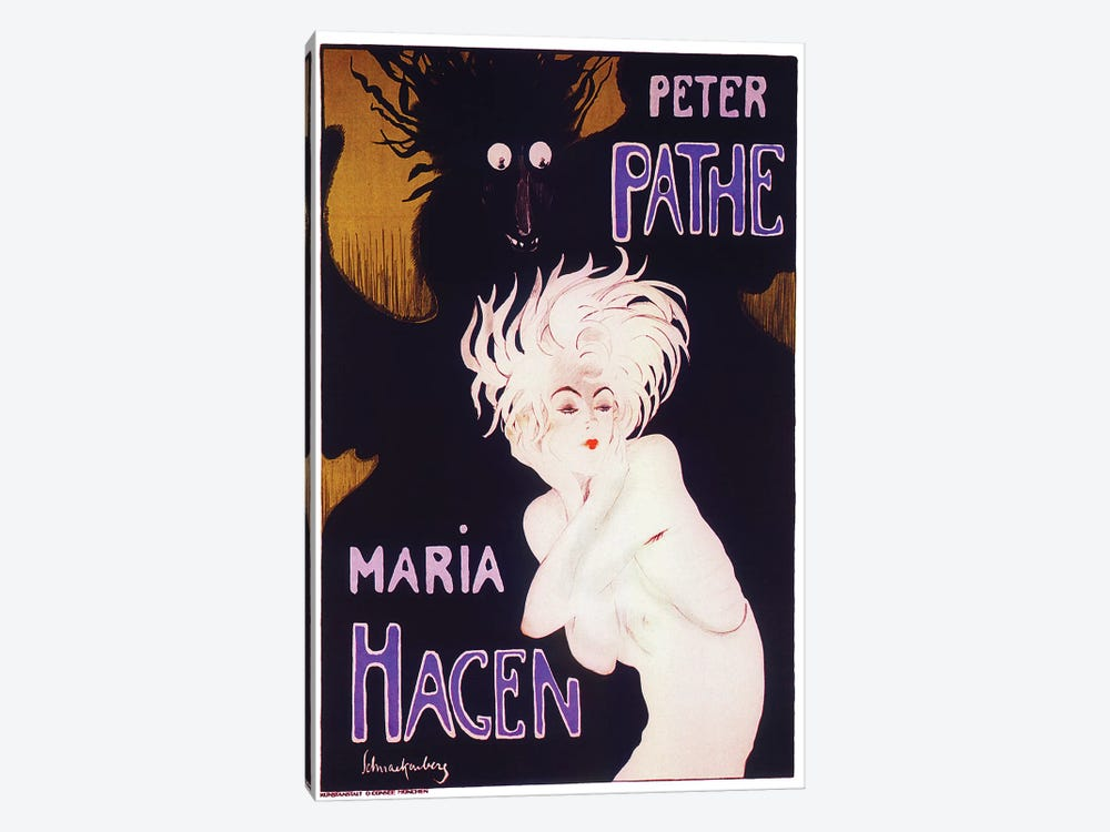 Peter Pathe/Maria Hagen Ballet Duo, 1918 by Walter Schnackenberg 1-piece Canvas Artwork