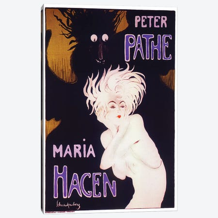 Peter Pathe/Maria Hagen Ballet Duo, 1918 Canvas Print #WSC1} by Walter Schnackenberg Canvas Art Print